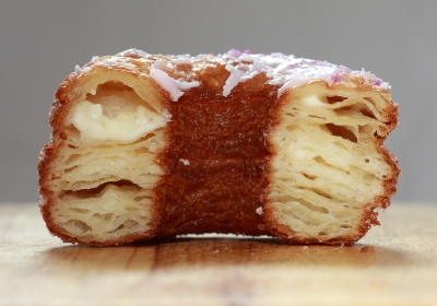 The cronut, one of the most popular portmanteu words of the summer. Image: http://www.manrepeller.com/2013/07/holy-cronut.html