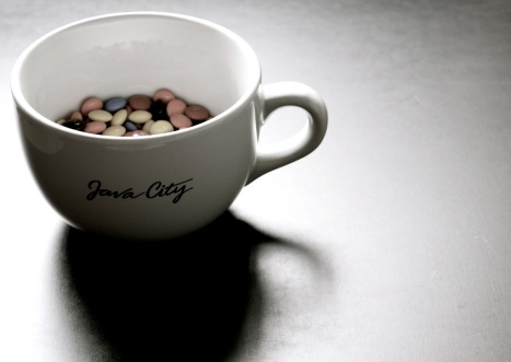 How to get a scientific publication, step 1: start with some M&Ms in a mug... Image: http://www.flickr.com/photos/donut4147/3500197318/