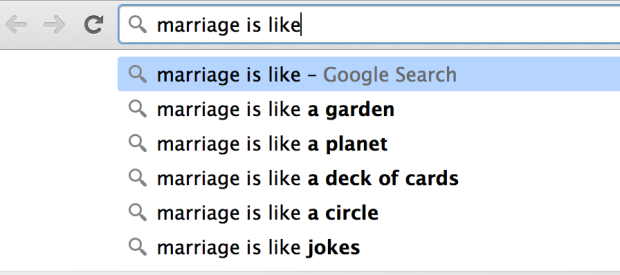 This is what Google thinks marriage is like